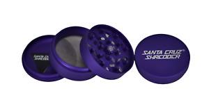 "Large 2.75"" Matte Purple 4 Piece Santa Cruz Shredder Grinder Matte Finish"