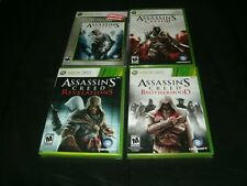 Assassin's Creed, AC II, Revelations, Brotherhood Xbox 360/XBO Brand New Sealed