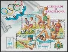 San Marino postfris 1992 MNH block 15 - Olympische Spelen (S2153)