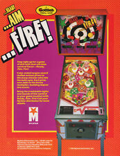 1983 GOTTLIEB READY AIM FIRE PINBALL FLYER