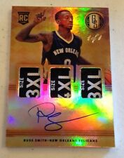 2014-15 GOLD STANDARD RUSS SMITH ROOKIE RC AUTO TRIPLE LOGO TAG PATCH 1/1