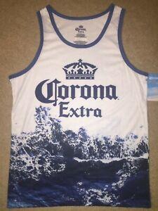 CORONA EXTRA beer Cerveza Mexican Beach MEN'S New SLEEVELESS Tank Top T-SHIRT