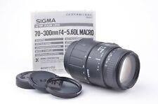 EXC++ SIGMA AF 70-300mm F4-5.6 DL MACRO ZOOM SONY A-MOUNT MINOLTA MAXXUM