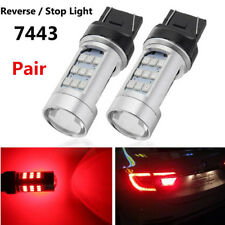 2XT20 7443 780LM Red LED Flashing Strobe Car Rear Alert Safety Brake Stop Light