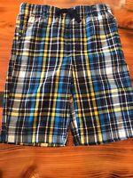 Gymboree Boys' Blue Yellow White Plaid Shorts NWT GYM26