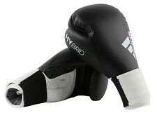 Adidas Hybrid 100 Boxing Gloves Black White Sparring 6 8 10 12 14 16 oz Training