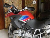 2 ADESIVI 3D PROTEZIONI LATERALI RALLY compatibili MOTO BMW GS R1200 2004-2007