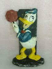 Cast Iron Walt Disney Donald duck door stop Black