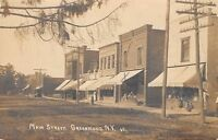 Greenwood-Rexville NY Main St~Young & Young Store~Meat Market Grocery RPPC c1910