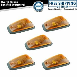 Dorman Cab Roof Parking Marker Clearance Lights 5 Piece Kit for Chevy GMC Truck