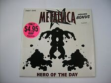 METALLICA - HERO OF THE DAY PART 1 - CD SINGLE CARDSLEEVE LIKE NEW - AUSTRALIA