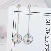 Earrings Nails Linear Star Gold Plated White One Cz White G9 C
