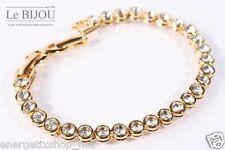 Lebijou Gilded Ladies Tennis Bracelet With Swarovski Elements