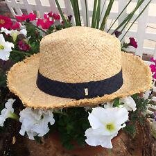 NWT Marc Jacobs Natural Straw Panama Summer Beach Hat TPF