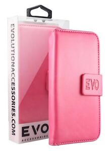 Premium Quality Wallet Case for Samsung Galaxy S8 by Evo - Pink - Fast Delivery