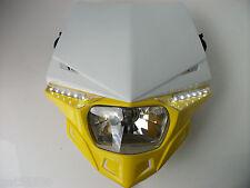 Ufo Road Legal Headlight Enduro Trial Streetfighter Yellow Suzuki Rm Rmz Drz Dr
