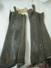 Antique Bicycle Motorcycle Leather Gaitors Island Cycle Supply Co Minneapolis