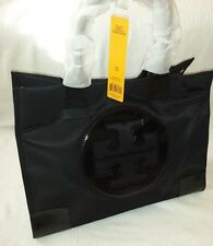 Tory Burch Nylon Ella LARGE Black Tote