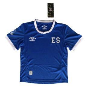Umbro Youth El Salvador National Team Soccer Jersey Blue Size XS (6), S (8)