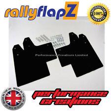 rallyflapZ Mitsubishi Lancer Evo 5-6 Full Mudflaps Kit Inc:Fixings Black 4mm PVC