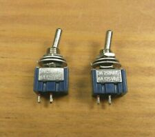 2 BBT Heavy Duty 12 volt 6 amp Mini RV Toggle Switches