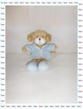 Z - Doudou Peluche Chien Beige Bleu Veste Chaussures  Petit  Kimbaloo 27 cm