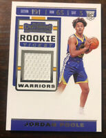 2019 Panini Contenders Jordan Poole Rookie Ticket Jersey Patch Card #RTS-JPL