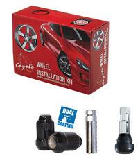 Wheel Lug Nut-Install Kit Car Spline 12mm 1.50 Black 5 Lug 641545BLK