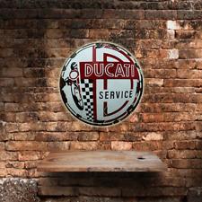 Ducati Service large round circular  shaped metal tin sign