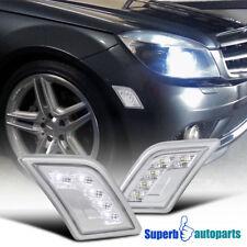 2008-2011 Mercedes-Benz W204 C-Class SMD LED Bumper Signal Lights Clear C63