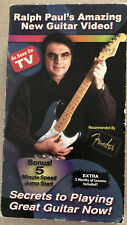 SECRETS TO PLAYING GREAT GUITAR NOW ! Ralph Paul VHS Tape.