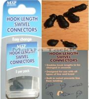 NEW Quick Change MAP Hook Length SWIVEL CONNECTORS 1 Pack Feeder Beads