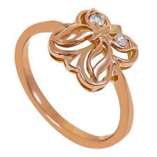 Synthetisch hergestellte Ringe aus Rotgold mit echten Edelsteinen