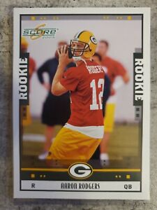 2005 Score Aaron Rodgers RC...Packers MVP... Card # 352