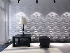 Eco-friendly ! Paintable, 3m2 DIY 3D Wall Panels, glue on wall tiles, Lake