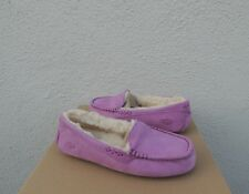 UGG ANSLEY BODACIOUS SUEDE/ SHEEP WOOL MOCCASIN SLIPPERS, US 10/ EUR 41 ~NIB