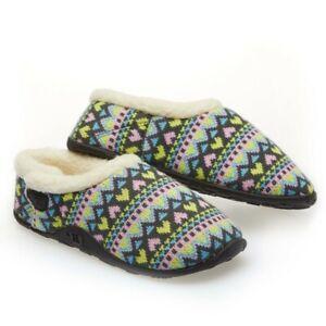 Homeys Ladies Natalia Pastel Heart Slippers NEW