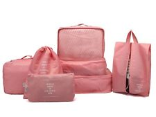 7pc Travel Packing Heavy Duty Cubes Pink Luggage Organizer Compatible W/ Rimowa