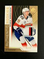 2018-19 SP Game Used Gold Spectrum #125 Henrik Borgstrom PATCH/49