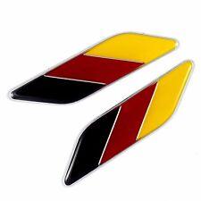 2x ALUMINUM EMBLEMS DECAL BADGE GERMANY FLAGS FOR BMW VW MERCEDEZ