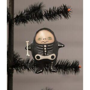 Bethany Lowe Robin Seeber Stanley Skeleton Boy Folk Art Halloween Decor Ornament