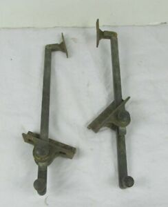 Antique Brass & Steel Lid Window Transom or Marine Support two pieces