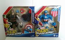 Marvel Super Hero Mashers Winter Soldier and WW2 Captain America New and sealed.