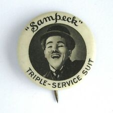 Vintage Charlie Chaplin Sampeck Triple Service Suit Pin by BIM 1920s