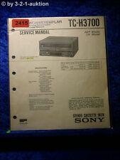 Sony Service Manual TC H3700 Cassette Deck (#2415)