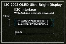 IIC / I2C 2002 20x02 OLED Module Display - For Arduino  / PIC / AVR / ARM