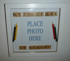 Personlised My First Day at School Scrabble Letter Frame Back to School
