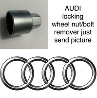 AUDI LOCKING WHEEL BOLT/NUT MASTER/KEY REMOVER ALL NUMBERS JUST SEND PICTURE