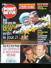 Point de Vue 9/8/2000; Les 100 ans de Queen Mum/ Gala de la croix rouge, Grimald
