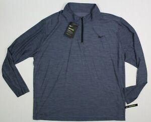 NWT Nike XXL Men's Dri-FIT Victory ½ Zip Golf Pullover 940177 011 Gray